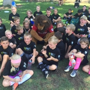 Photo of summer soccer camp group